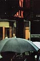 Saul Leiter Color Photograph, Don't Walk 1952