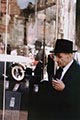 Saul Leiter Color Photograph, Man and Mirror
