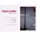 Announcement Card of Saul Leiter Color Photograph